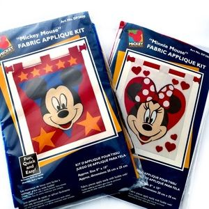Disney Mickie & Minnie Mouse Wall Hanging Kits NWT